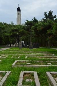 抗美援朝烈士陵園中的「蘇軍烈士」陵園。