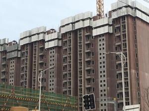 上海以裝配式建築技術建造的小區樓房。