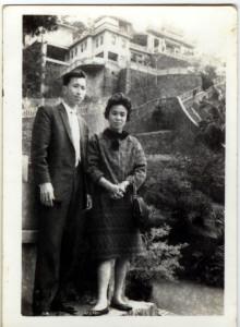 吳澍培與妻子洪美容合影