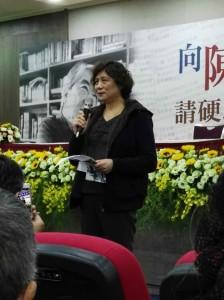 陳麗娜代表家屬感謝與會的朋友