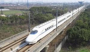 運行中的大陸高鐵。