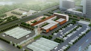 大陸新建綜合客運樞紐示意圖。