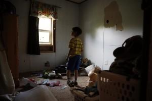 美國貧窮兒童的住家。