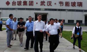 中部崛起給武漢台商帶來大商機 張志軍參觀台玻武漢工程玻璃有限公司。(中國台灣網圖片)