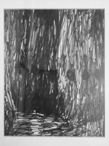 施夏桐(五歲),《過山洞》,29.7x21cm