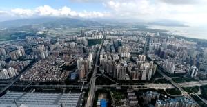 深圳市區鳥瞰圖。 (新華社 毛思倩 攝)
