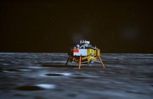 中國大陸建立起獨立自主、完整的航太科技工業體系,圖為嫦娥三號探測器成功著陸在月球虹灣區地區。 (新華社)