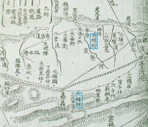 1895年日軍所繪台灣南部圖