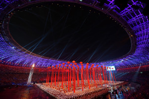 大陸第十三屆全運會開幕式舉行。(新華社 許暢 攝)