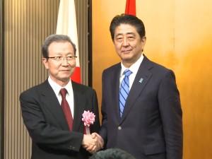 日本首相安倍晉三參加大陸的國慶慶祝活動。