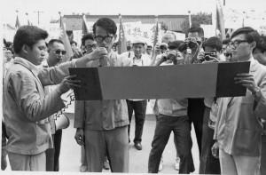 1971年6月17日學生赴美國使館抗議釣魚台事件。