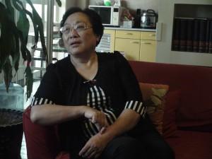 謝秋涵接受採訪時侃侃而談。