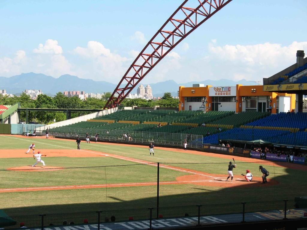 2015年於台中舉行的亞錦賽,中國大陸棒球隊和日本對戰。