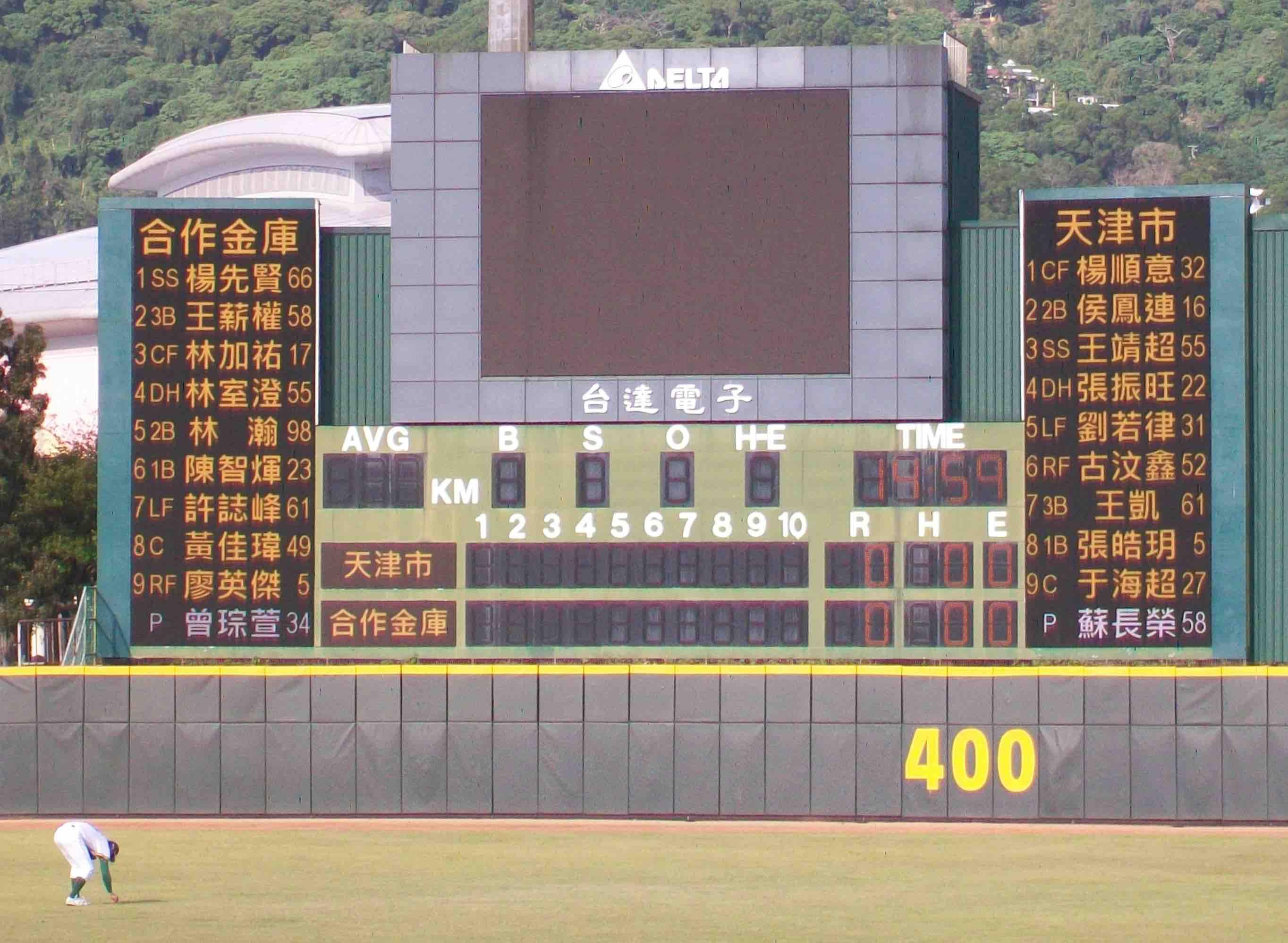 2012年海峽盃兩岸業餘棒球隊的交流。其中合庫的黃佳瑋、林加祐、林瀚和天津市的楊順意,皆是本屆亞運棒球比賽的成員。