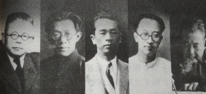 2009年台北市文化局舉辦「五四人物展」,中為張我軍。